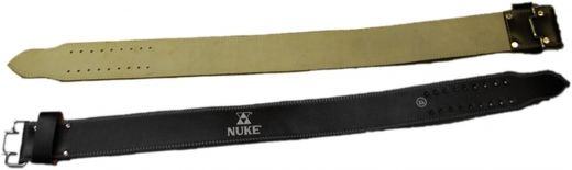 NUKE Powerlifting belt, real leather, black, sizes: S-XXL