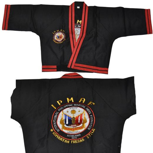 Escrima Jacket, embroided, black-red, sizes: 160 cm - 210 cm