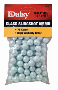 "Daisy 1/2"" High Visibility Glass Slingshot, 75ct"
