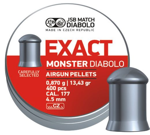 JSB Exact Monster .177 Cal, 13.4 Grains, Cylindrical, 400ct
