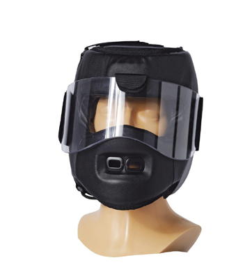 Move Guard Helmet with shatterproof plexi-glass, black
