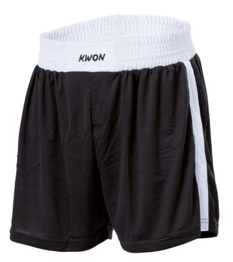 KWON San Da Boxing/kickboxing shorts, black/white, sizes: S-XL