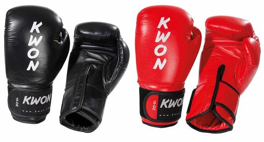 KWON Ergo Champ WAKO Boxing Gloves, strong leather, 10 oz