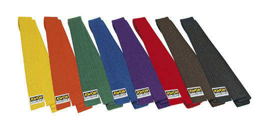 KWON Club Line Soft Budo Belts, 4 cm wide, many colors