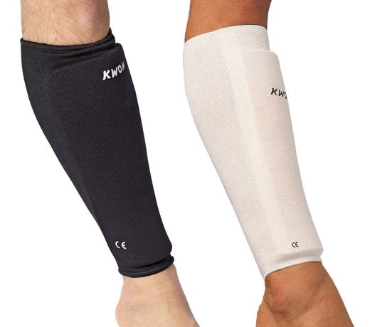 KWON Shin guard, flexible, cotton, sizes XS - XL