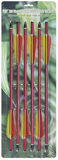 Crossbow arrows pack, size 16 '' arrows (6 pcs arrows in pack) 120/150 lb