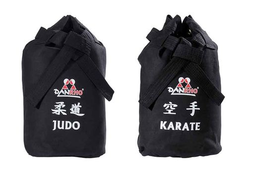 Dojo-Line Canvas Bag Judo, black/white
