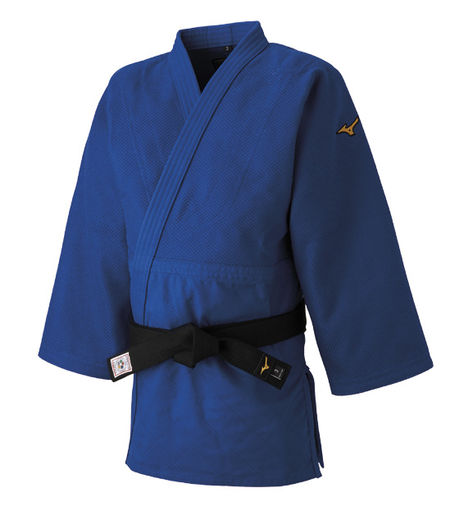Mizuno Yusho Best IJF 750g Judo jacket, blue, sizes 150 - 210 cm