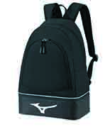 Mizuno lightweight back pack, size 49 x 34 x 20 cm, black