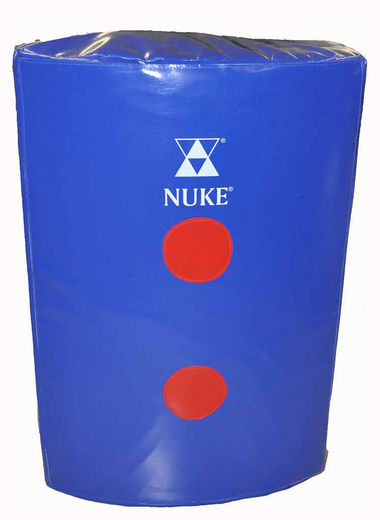 NUKE Shield for a stick with red dots (strike shield), blue, size: 75 x 50 x 21cm