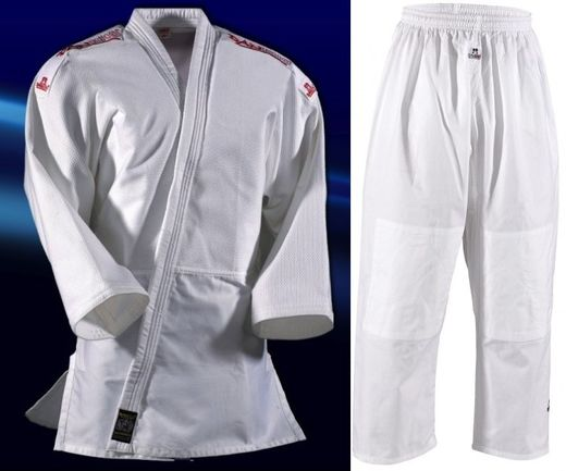 Judo Uniform Yamanashi with shoulder stripes, sizes 110 cm  - 180 cm