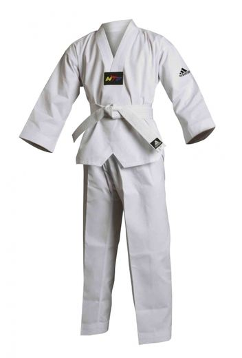 Adidas Taekwondo-uniform ADI-START white lapel, sizes 120 cm - 200 cm