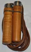 NUKE Skipping Rope, real leather, brown