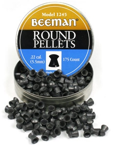 Air Gun pellet Beeman .22 Cal, 15.2 Grains, Round Nose, 175ct